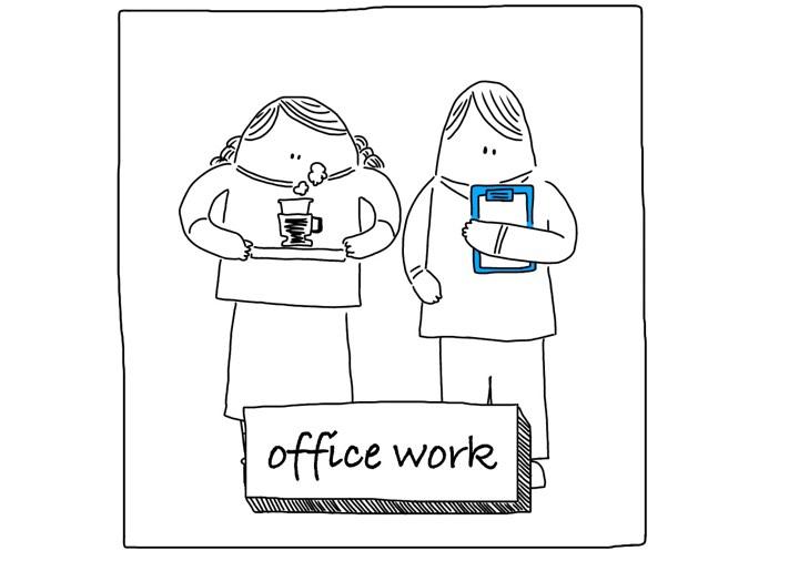 officeワーク イラスト