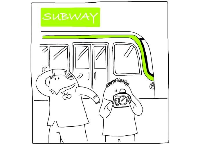 地下鉄イラスト